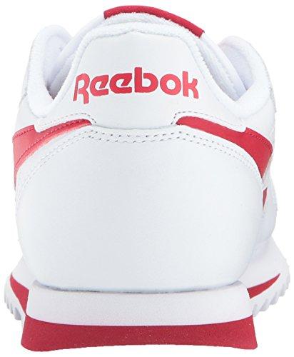 Reebok Mens Cl Leather Ripple Low Bp Fashion Sneaker Bianco / Rosso Eccellente