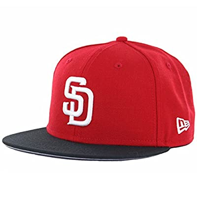 New Era 5950 San Diego Padres Two Tone Basic (Red/White-Black) MLB Fitted Hat
