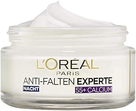 Crema hidratante L'Oréal Paris antiarrugas de noche con calcio, 3 unidades (50 ml).