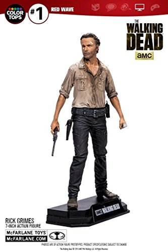 Color tops red wave the walking dead: Rick Grimes 7-inch action figure