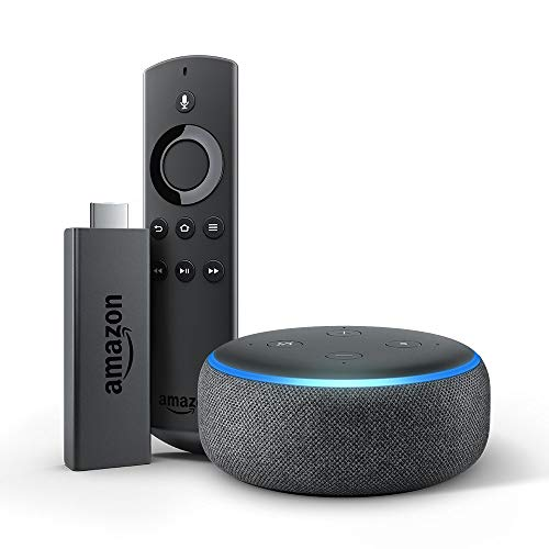 Echo Dot (3rd Gen) bundle with Fire TV Stick - Charcoal