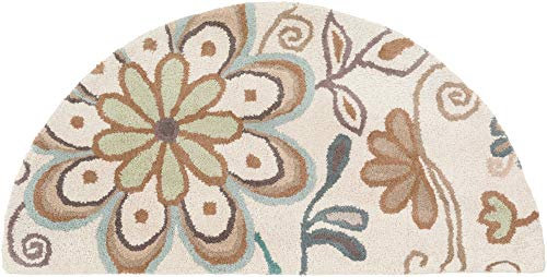 - Surya Athena ATH-5123 Hand Tufted Wool Hearth Floral and Paisley Accent Rug, 2-Feet by 4-Feet