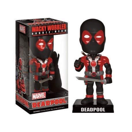 Funko Wacky Wobbler Black Suit Deadpool Exclusive Bobble Head ()