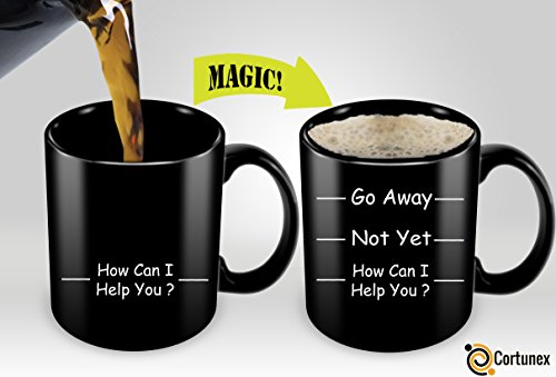 Heat Sensitive Mug   Color Changing Coffee Mug   Go Away Fun