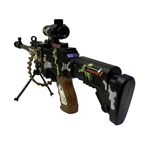 CifToys Combat Military Mission Machine Gun Toy With LED Flashing Lights And Sound Effects (R8626) By For Kids Playing
