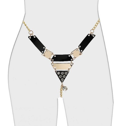 Vaginal Jewelry Gold Chain G-string Lingerie Sexy Chain Thongs J1434#D1 (Free Shipping) by Sexy Lengerie Set > Panty