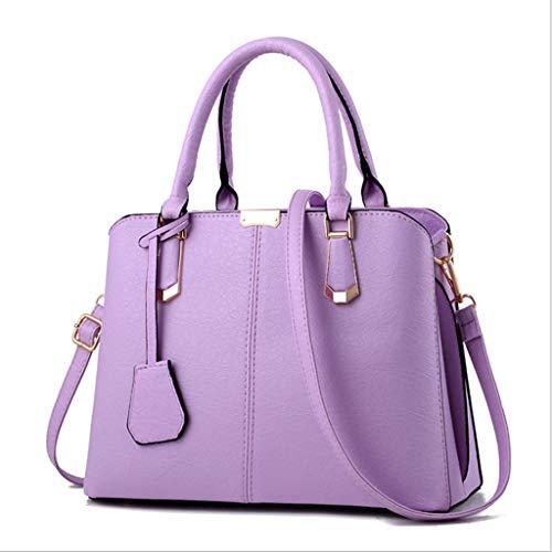 Femmes Sac Sweet Mode Une épaule Messenger Bag Sauvage Sac à Main 6 Couleurs (30 * 23 * 15cm) (Couleur : Camphor Purple)