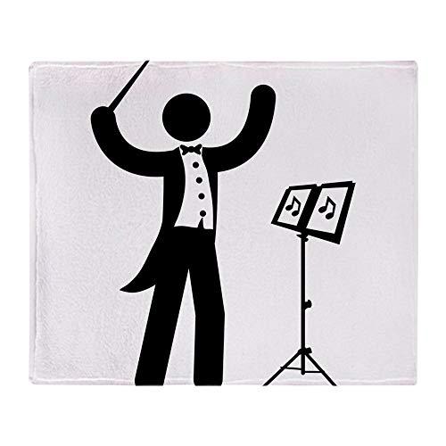 CafePress Music Conductor Soft Fleece Throw Blanket, 50