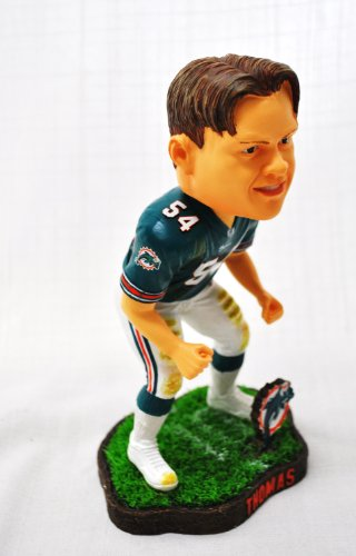 Miami Dolphins #54 Zach Thomas action Field Base Forever Collectibles NEW IN BOX FOOTBALL BOBBLE HEAD 8