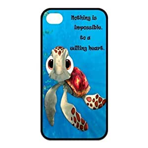 TYHde Pink Ladoo? iPhone 4/4s Case Phone Cover Cartoon Sea Turtle Squirt coat ending