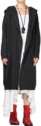 [Patrocinado] mordenmiss de manga larga para suéter sudadera de mujer chaqueta de punto Escudo con bolsillos