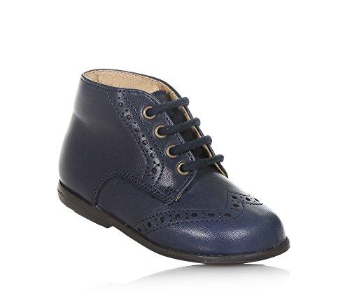 PÈPÈ - Blauer Schuh mit Schnürsenkeln aus Leder, made in Italy, eleganter und aktueller Look, Mädchen