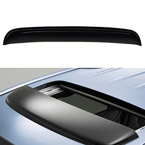 VIOJI 1pcs 34in. Universal Deflector Sun Moon Roof Rain Snow Guard Wind Dark Smoke Tint Window Visor