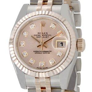 buy online b696f caa25 Amazon | [ロレックス]Rolex デイトジャスト レディース 179171G ...
