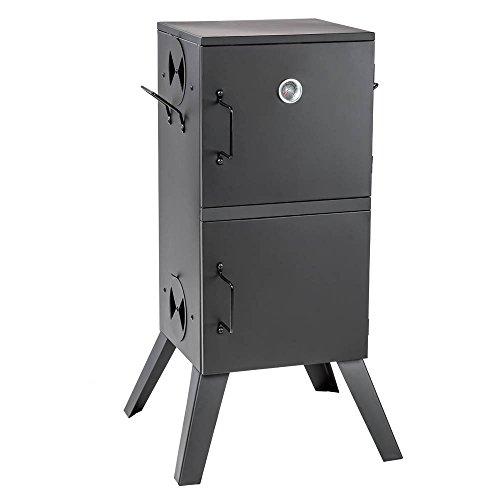 TecTake 401412 Räucherofen mit Temperaturanzeige, Beschichtete und Hitzebeständige Stahlausführung