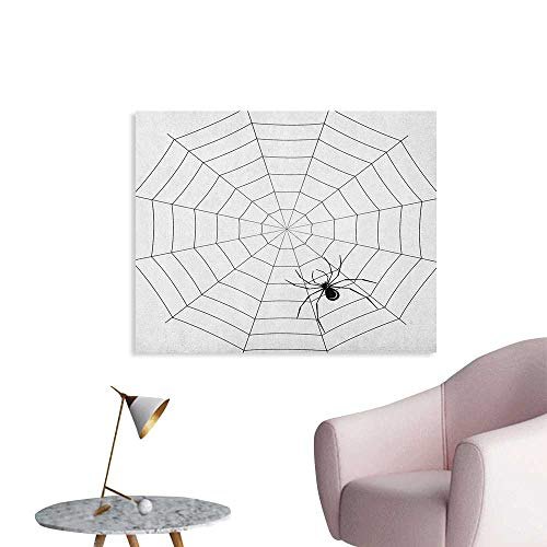 Anzhutwelve Spider Web Wallpaper Toxic Poisonous Insect Thread Crawly Malicious Bug Halloween Character Design Wall Poster Black White W28 xL20]()