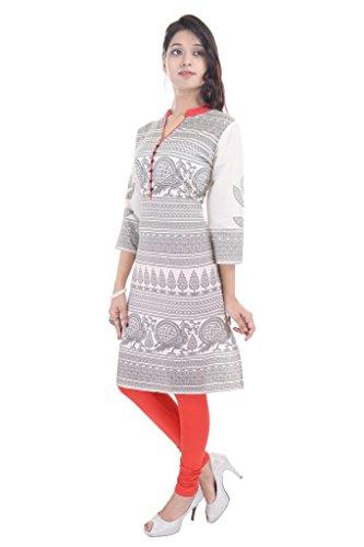 Impex Vihaan etnico India Kurti Casual, in cotone, colore: bianco