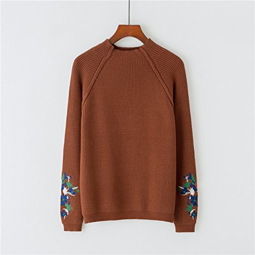 Coffee F OME&QIUMEI RegroupeHommest Raglan Manches Longues Robe Courte Fille Pull Couleur