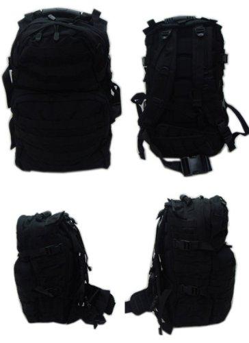 MOLLE Medium USMC Assualt Backpack Pack-BLACK, Outdoor Stuffs