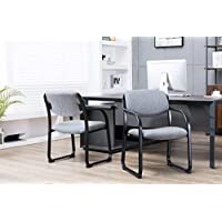 Porthos Home BT001A Gry Stackable Office Chair with Fabric Upholstery and Arm Rest, One Size, Gray