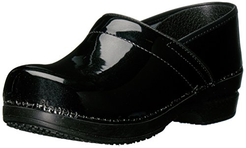 Sanita Women's Smart Step Sabel Work Shoe, Black, 40 EU/9/9.5 M (Womens Black Patent Clog)