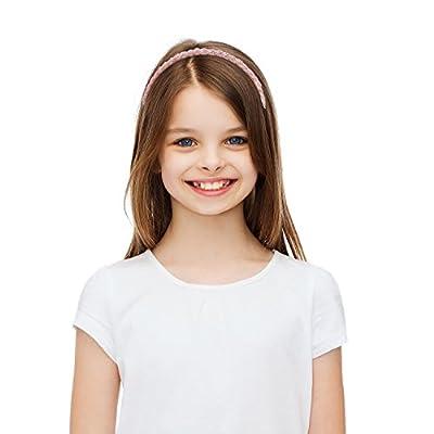 Mtlee 6 Pieces Beaded Hair Hoop Headband Bead Hair Band Women Girls Hair Accessories