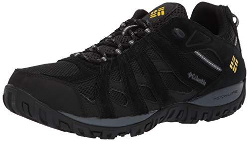 Columbia Men's Redmond Waterproof Hiking Shoe Black, Antique Moss 14 Regular US