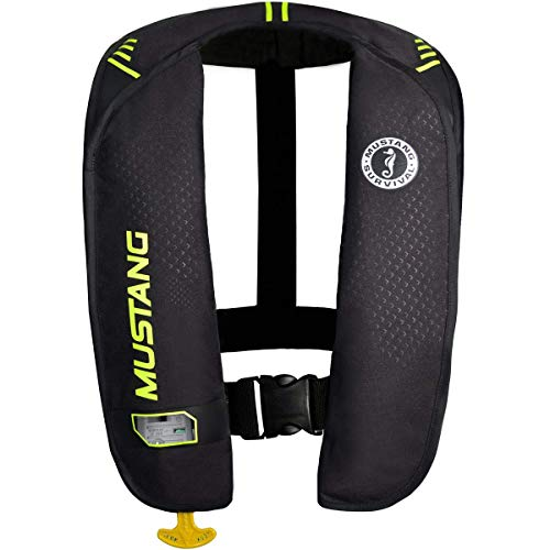 Mustang Survival Corp M.I.T. 100 Auto Activation PFD, Black/Fluorescent Yellow Green