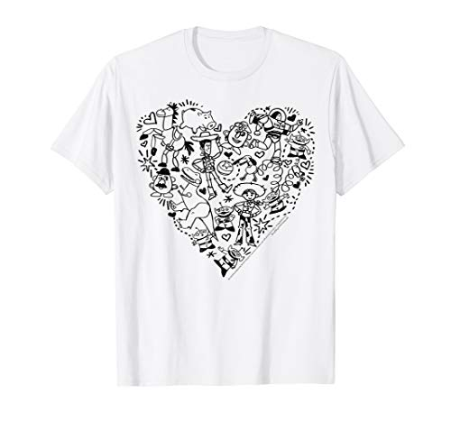 Disney Pixar Toy Story Characters Heart Fill Graphic T-Shirt ()