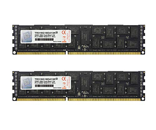 V-Color 32GB (2 x 16GB) Hynix IC 240-Pin DDR3 1866MHz (PC3-14900) ECC Registered DIMM for Apple Mac Pro 1.5V CL13 2Rx4 Dual Rank Server Memory Ram Module Upgrade (TR316G18D413K)