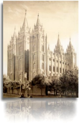 LDS Salt Lake City Utah Temple Drawing 16x20
