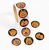Fun Express Jack-O-Lantern Roll Stickers Party Favors - 1 Roll