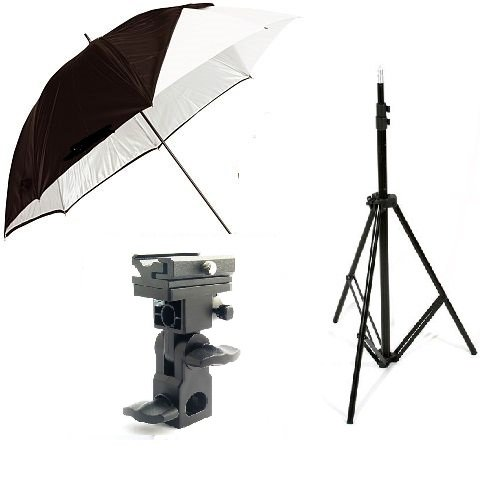 CanadianStudio Photo Digital Video Studio shake off umbrella Flash Shoe Holder Swivel Bracket Mount Stand Kit for Nikon Canon Speedlite PS-05A