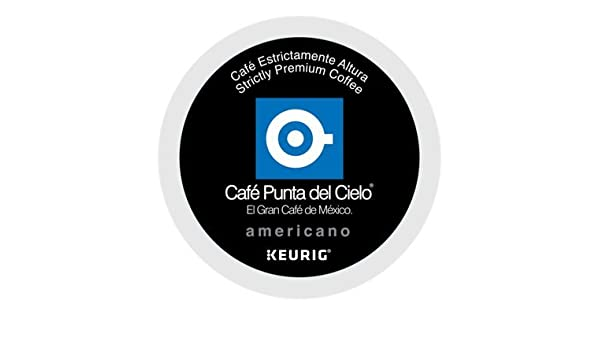 Amazon.com : PUNTA DEL CIELO Café Americano Coffee 12 K-cup pods : Grocery & Gourmet Food