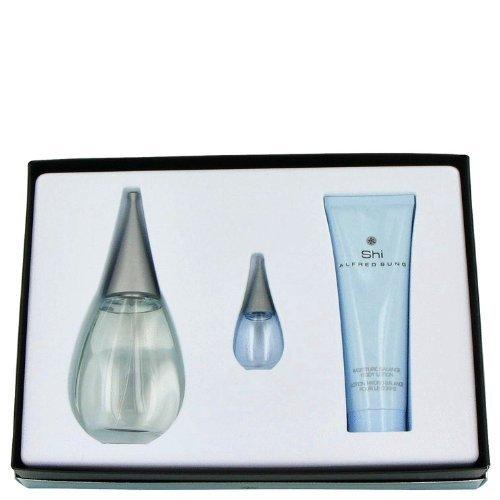Price comparison product image SHI by Alfred Sung Gift Set -- 3.4 oz Eau De Parfum Spray + 2.6 oz Shower Gel + .24 oz Mini EDP for Women - 100% Authentic