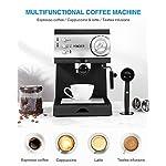 HOMEVER-Macchina-per-Caffe-Espresso-15-bar-Macchina-manuale-per-il-Caffe-Espresso-e-Cappuccino-1-o-2-caffe-scaldatazze-1050W-Nero
