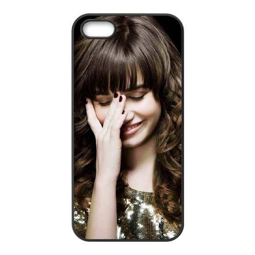 Demi Lovato Singer coque iPhone 4 4S cellulaire cas coque de téléphone cas téléphone cellulaire noir couvercle EEEXLKNBC24528