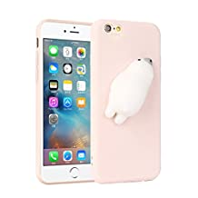 Morrivoe [Slim-Fit] Squishy 3D Cute Seal Soft Silicone Case Back Protective Cover For iPhone 6 Plus/6s Plus 5.5 Inch (Pink)