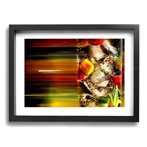 12 X 16 Inch Frame Painting Print Artwork Cocktail Wallpaper Wall Art Paintings Giclee Landscape Canvas Prints for Home ()