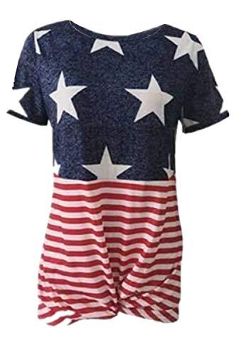 (ALBIZIA American Flag Tee Shirts 4th July Patriotic T-Shirt Tops for Women XL USA Flag-2)