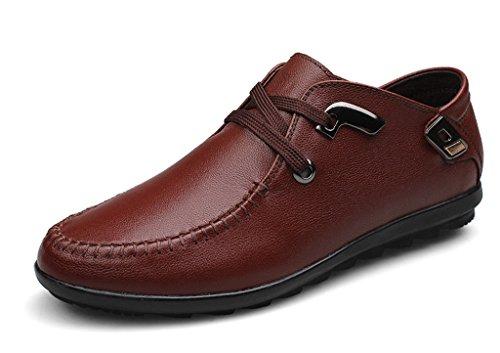 Sneaker Fashion Men's Brown Oxford Leather TDA Round Toe YPwtw4q