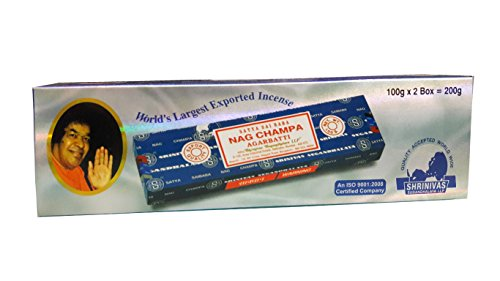 Satya Sai Baba Nag Champa Incense Sticks, 100-gram (Pack of 2)