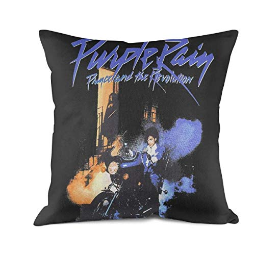 YAYAZANPl Throw Pillow Covers Rock Band Design Cotton Square Decorative Cushion Case for Sofa Bedroom Car 18x18 Inch