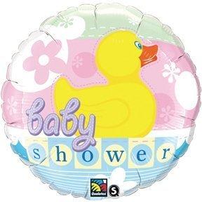 BABY Shower Rubber Yellow Ducky DUCK Boy Girl (1) 18' Mylar Foil Balloon