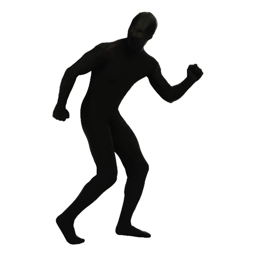 YOMOSA Spandex Bodysuit Full Lycra Suit Cosplay Costume Zentai Men Women Unisex Body Suits for Halloween Holiday Size L Black