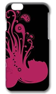 Abstract Psychedelic Girl Pink Thanksgiving Easter Masterpiece Limited Design PC Black 3D Case for iphone 6 pluse by Cases & Mousepads