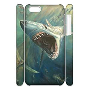 ALICASE Design Diy hard Case Deep Sea Shark For Iphone 4/4s [Pattern-1]