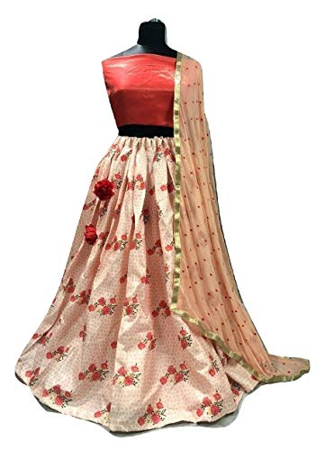 PAKINDI FASHION Designer Indian Wear Lehenga Choli Embroiderd Latest Ethnic Designer Lengha Party wear Wedding Indian Pakistani for Women (red)