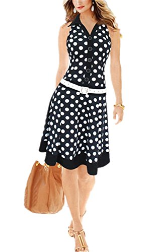 Xiafeimantian Elegant Women Dress Fashion Polka Dot for sale  Delivered anywhere in USA
