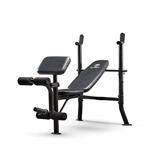 Marcy Standard Weight Bench with Leg Developer Multifunctional Workout Station for Home Gym Weightlifting and Strength training by Marcy